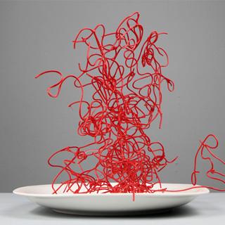 Emmanuelle Jenny artiste plasticienne Mulhouse détournement installation sculpture assiette pâtes art contemporain