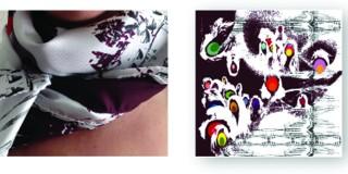 Emmanuelle Jenny artiste designer textile Mulhouse foulard en soie textile luxe Bordeau carré identité