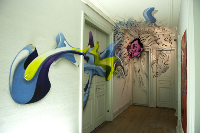 Emmanuelle Jenny collaboration artiste Jamel Beribeche graf cheveux silhouette